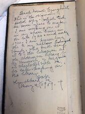 Original Bound Manuscript by Sarah Norvell Craighill Way Truth Life Four Gospels