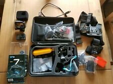 GoPro HERO 7 Black - Great Condition - Accessories & 128Gb Memory Card