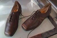WALDLÄUFER Damen Comfort Schuhe Schnürschuhe Leder Einlagen braun Gr.5,5 H 38 39