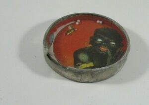 ANTIQUE BLACK BOY with BEE  DEXTERITY GAME Mirror Back  Made in GERMANY  LK