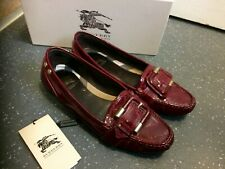 BURBERRY Prorsum Deep Red Patent Leather flats Loafers size UK 6 EU 39 in Box