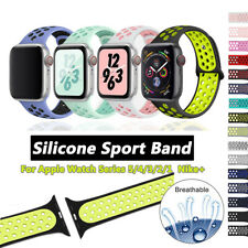 38/42/40/44mm Silicone Sports iWatch Band Strap for Apple Watch Series 5 4 3 2 1