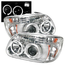 Ford 95-01 Explorer Chrome Dual Halo LED Projector Headlights w/ Signal Lamp