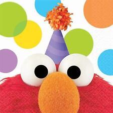 Elmo Party Sesame Sreet  Dessert Beverage Napkins 16 Count Birthday Supplies New