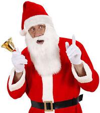 Weihnachtsmütze mit plüschigem Bart NEU - Karneval Fasching Hut Mütze Kopfbedeck