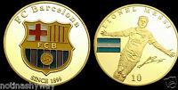 Messi Barcelona World Cup 2022 Argentina Gold Coin Soccer Signed Man City C U UK