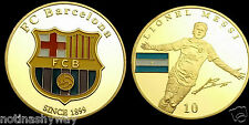 Lionel Messi Barcelona World Cup 2014 Brazil Gold Coin Soccer Star Signed Retro