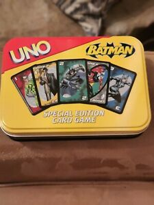 BATMAN UNO Special Edition Card Game W/Instructions! *RARE* Played With Once