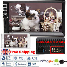 7'' INCH Double 2 Din Car Stereo Touch Screen Radio Mirror Link AM FM Player MP5