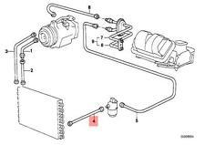 Genuine BMW E28 Sedan AC Condenser Dryer Coolant Pressure Hose OEM 64531373358