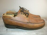 Gokey Company Brown Leather Gro Cord Sole Lace Up Shoes Mens Sz 10.5 Made in USA