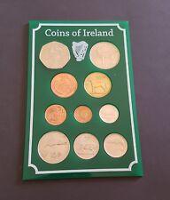Holder of 10 Different old Irish Coins 1/2p 1p 2p 5p 10p 20p 50p 1 Punt 10x15 cm