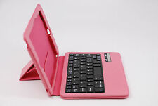 New Ultra Thin bluetooth ABC keyboard smart Case  cover for ipad mini 1/2/3 Pink