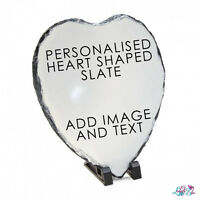 Personalised Heart Shaped Photo Slate - Wedding Gift - Birthday - Fathers Day