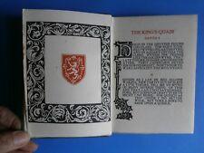 James I of Scotland. The King's Quair, Printed at the Caradoc Press, 1914