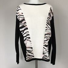 Calvin Klein Women's Medium Sweater Color Block Striped Knit Top