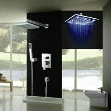 3 LED robinet mitigeur chrome salle de bains douche set