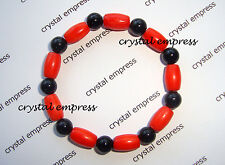 Feng Shui - Coral & Black Onyx Kids / Baby Protection Bracelet