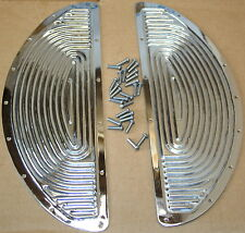 Harley Panhead Flathead Chrome Floor Board Replacement Pad Includes Rivets (107)
