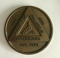 Bronze Medal Society Of Philatelic Americans ORG 1894 INC. 1923