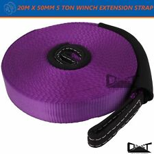 Recovery Snatch Straps 50mm X 20M Winch Extension Strap 5Ton 4WD 10065