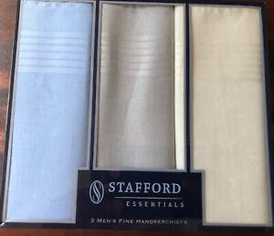 Men's Stafford Essentials Handkerchiefs Set of Three One Size
