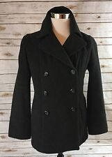 CROFT & BARROW Peacoat Womens Sm Gray Wool Blend Winter Coat Lined Above Knee