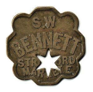 """Stratford Market """"S. W. Bennett"""" Five Shilling 30mm Token"""
