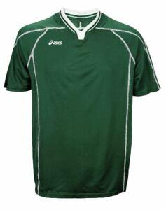 Asics Men's Shoji Sports Jersey Shirt Top, Forest Green