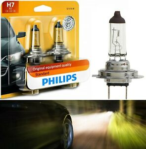 Philips Standard H7 55W Two Bulbs Head Light High Beam Replace lamp Halogen Fit