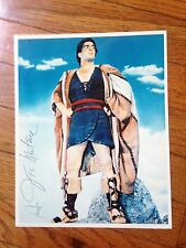 Victor Mature Fabulous 8 X 10 PHOTO  SIGNED GUARANTEED AUTHENTIC BEST