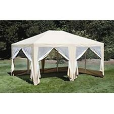 12ft x15ft Screen House, Party Tent,Sun Shelter,Gazebo,Canopy. Beige , New