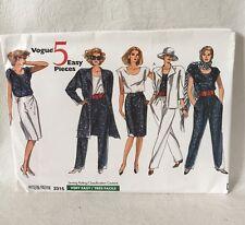 Vogue 2315 UNCUT Sewing Pattern size 8-10-12 misses' jacket top skirt pants