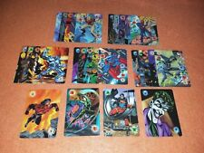 OVERPOWER DC Batman Superman Power Card lot 28 - all 1, 2, 3, 4, 5, and 6 cards