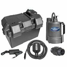 Superior Pump92900 Powered Battery Back Up Sump Pump With Tethered Switch,12V DC