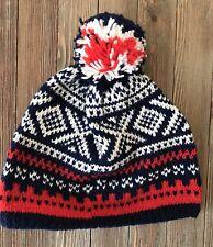 Unisex Red White Blue Knit Beanie Hat Snow Winter #L2-5