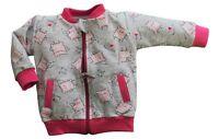 Baby Infant Girls Grey Cookies Zip Sweatshirt Jumper  3-6//9-12 Months Jacket