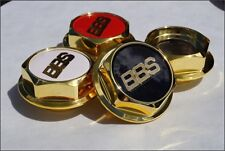 BBS RS GOLD Hex Nuts RC Center Caps 15 16 17 18 19 Inch Small Thread 58mm Vw