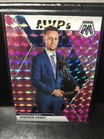 Steph Curry MVP's 2019-20 Panini Mosaic Stephen Curry MVP Pink Camo Prizm
