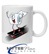 Skateboarding Crazy Roll Wheels Funny Coffee Tea Mug Fathers Day Christmas Gift