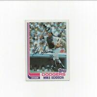 1982 Topps Mike Scioscia 2nd Baseball Card #642 Los Angeles Dodgers HOF