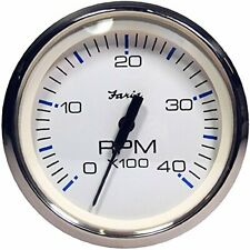 Faria 33818 Chesapeake Tachometer Gauge Diesel White Ss 4
