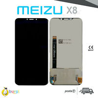 DISPLAY LCD TOUCH SCREEN ASSEMBLATO MEIZU X8 M852Q NERO SCHERMO VETRO