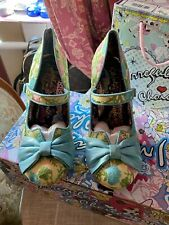Irregular Choice Fancy This Blue & Lemon Floral Size 40 Brand New In Box 🦋