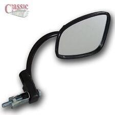 Corcho Custom Classic Motos Retro Negro Estilo Bar manillar Mirror End