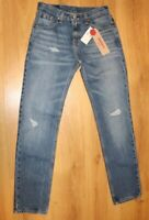 Levi's 511 Stretch Slim Ripped 29x32 Light Wash Blue Denim Jeans - NEW NWT