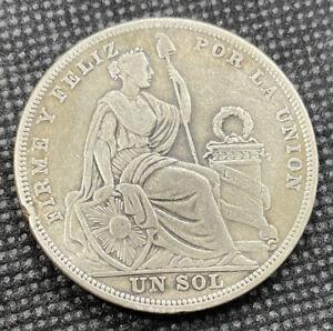 Peru 1923 Un Sol .500 Silver Coin - P83