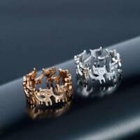 Lovely Cat Ring Animal Finger Ring Opening Adjustable Ring Women Jewelry Gift
