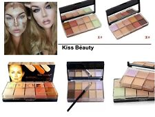 Makeup Concealer Contour Foundation Cream Bronzer Palette Set 10 Colours Kiss Be