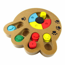 Wooden Puzzle Treat Food Toy For Cats Dogs – Family Time Interactive Toy